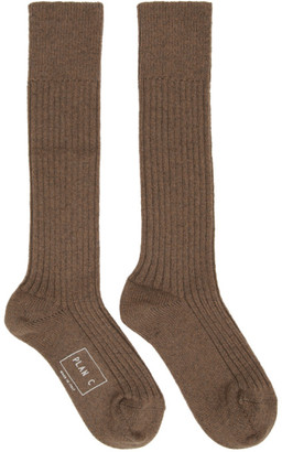Plan C Brown Long Socks
