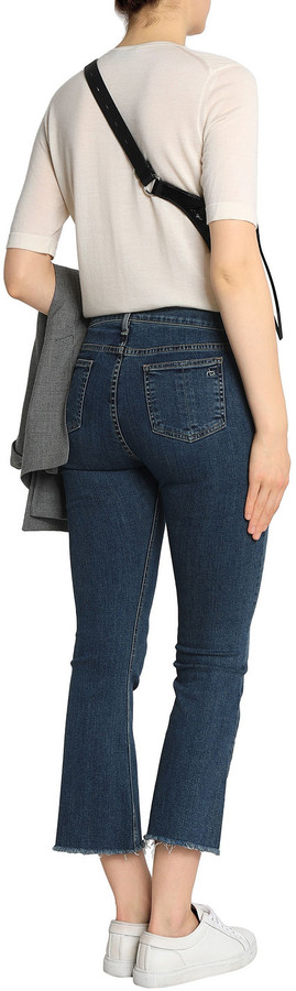 Thumbnail for your product : Rag & Bone Distressed Mid-rise Kick-flare Jeans