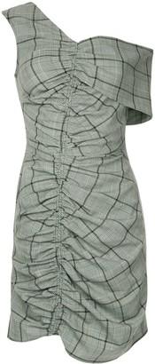 Sea Bacall plaid ruched dress