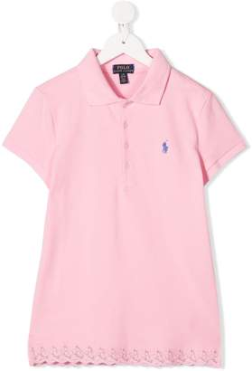 Ralph Lauren Kids TEEN lace-hem polo shirt
