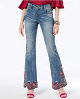 INC International Concepts Curvy Embroidered Flare-Leg Jeans, Created for Macy's