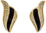 Christian Dior Crystal & Enamel Clip-On Earrings