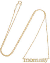 Jennifer Meyer Mommy 18-karat Gold Diamond Necklace - one size