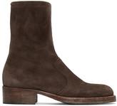Maison Margiela Brown Suede Zip Boots
