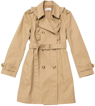 Valentino Red Camel Cotton Coat for Women