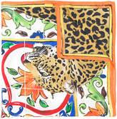 Dolce & Gabbana Majolica leopard print scarf