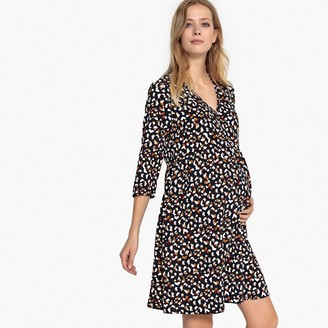 La Redoute Collections Maternity Leopard Print WrapoverDress