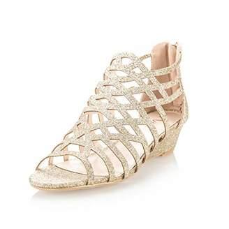 Rosegold AIIT Women's High Block Heels Sandals for Women 7