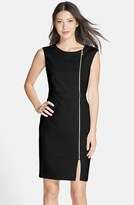 Ellen Tracy Women's Front Zip Crepe Sheath Dress
