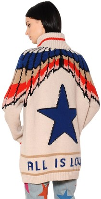 Stella McCartney All Is Love Intarsia Wool Cardigan