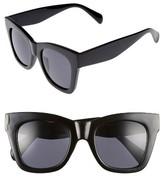 BP Women's 47Mm Cat Eye Sunglasses - Black