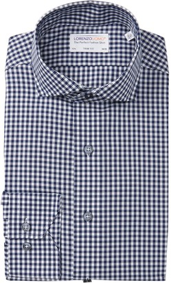 Lorenzo Uomo Buffalo Check Long Sleeve Trim Fit Shirt