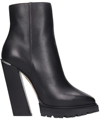 Jimmy Choo Madra 130 High Heels Ankle Boots In Black Leather