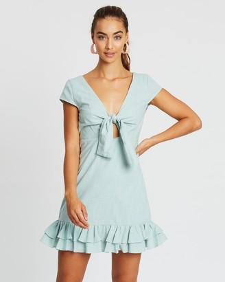 MinkPink Brooke Tie Front Mini Dress