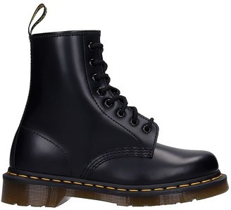 Dr. Martens 1460 Combat Boots In Black Leather