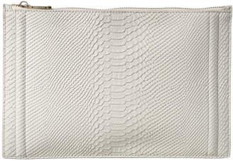 BCBGMAXAZRIA Erika Python-Embossed Leather Portfolio Clutch