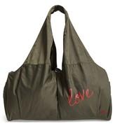 Peace Love World Nylon Duffel Bag - Green