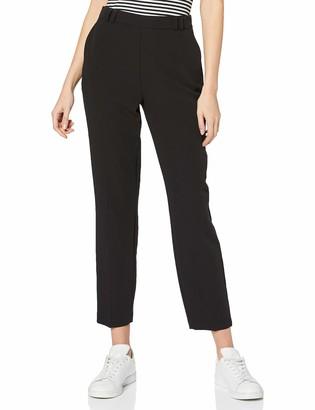 Dorothy Perkins Women's Black High Waisted Slim Leg Trousers Work Utility Pants 14