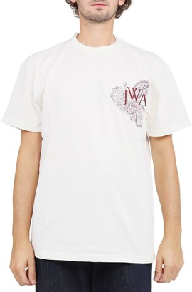 J.W.Anderson White Embroidered Logo T-shirt