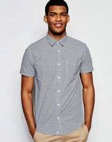 United Colors Of Benetton Gingham Short Sleeve Shirt In Slim Fit