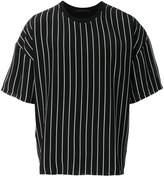 Haider Ackermann striped half sleeve T-shirt