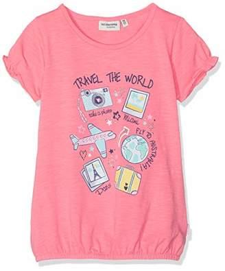Salt&Pepper Salt and Pepper Girls' T-Shirt Sunshine Print Studs (Flamingo Pink 840)