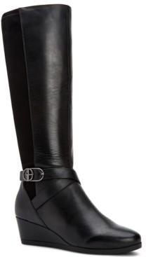 Giani Bernini Chelseyy Memory-Foam Wedge Boots, Created for Macy's Women's Shoes