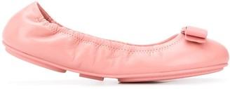 Salvatore Ferragamo Bow-Detail Ballerina Flats