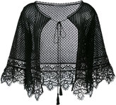 Alberta Ferretti knitted lace cape - women - Cotton - 42