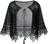 Alberta Ferretti knitted lace cape - women - Cotton - 44