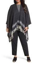 Eileen Fisher Plus Size Women's Wool Blend Serape Wrap