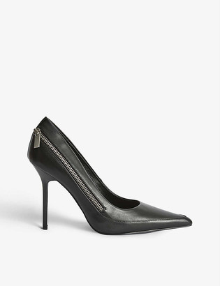 Reiss Hoxton zip-detail leather courts