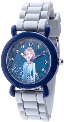 EWatchFactory Disney Frozen 2 Girls' Elsa Gray Silicone StrapWatch