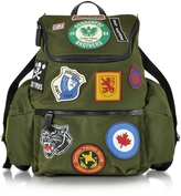 DSQUARED2 Hiro Military Green Patchwork Men's Backpack