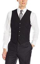 Haggar Men's Heather Plain-Weave Tailored-Fit Five-Button Vest