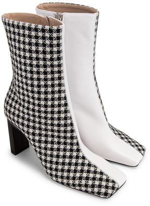 Wandler Isa Boot in Houndstooth | FWRD