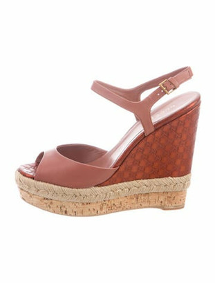 Gucci GG Signature Leather Espadrilles Red