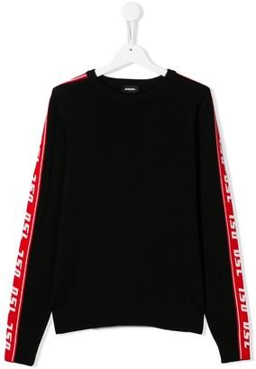 Diesel TEEN DSL Band Knit Pullover jumper