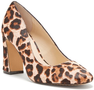 Vince Camuto Leetey3 Leopard-print Flared-heel Pump