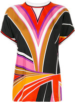 Emilio Pucci printed double layer top