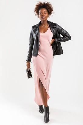 Mi Ami Cassidy Side Slit Midi Dress - Pink