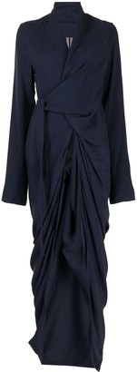 Rick Owens Draped Detail Wrap Dress