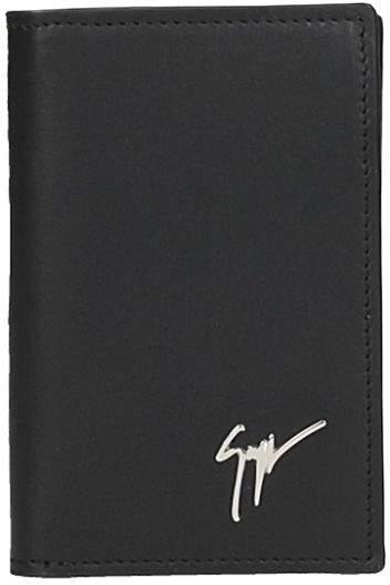 Giuseppe Zanotti Black Leather Wallet