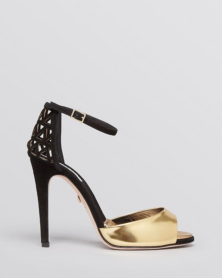 Diane von Furstenberg Platform Evening Sandals - Rowan High Heel