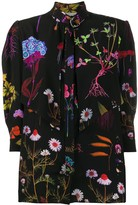 Stella McCartney flower print silk blouse