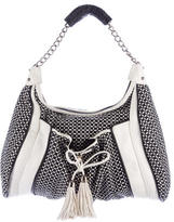 Zac Posen Woven Perforated Leather Hobo