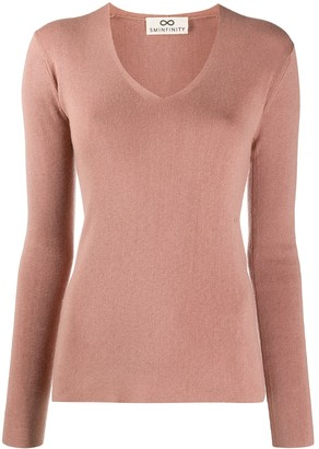Sminfinity ribbed V-neck jumper
