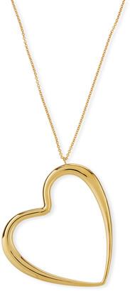 Milani Alberto 18k Graduated Oversize Heart Pendant Necklace