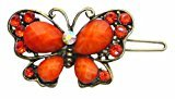B.ella Crystal Butterfly Barrette LPW86250-3orange