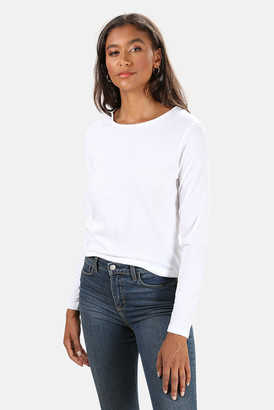 Majestic Filatures Cotton Silk Touch Long Sleeve Tee